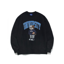 [예일]YALE_UNIVERSITY HANDSOME DAN CREWNECK BLACK