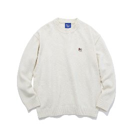 [예일]YALE_WOOL WAPPEN DAN KNIT CREAM