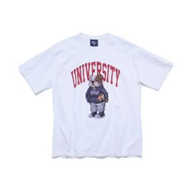 [피지컬 에듀케이션 디파트먼트]PHYS.ED DEPT_UNIVERSITY HANDSOME DAN TEE WHITE